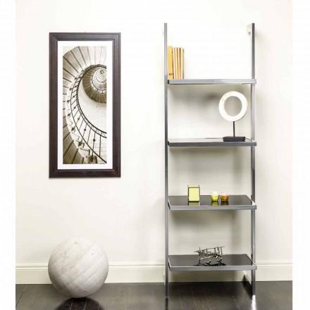 Wand- und Stahlregal im Design 60x180x44cm Tafre