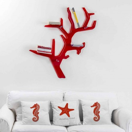 Roter Wandbücherschrank des modernen Entwurfs Carols, hergestellt in Italien