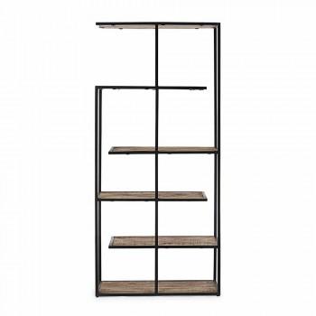 Boden Bücherregal mit Homemotion lackierter Stahlkonstruktion - Borino