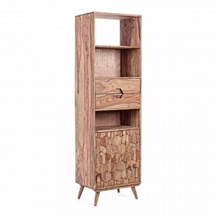 Boden Bücherregal mit Holzstruktur Design Vintage Homemotion - Ventador