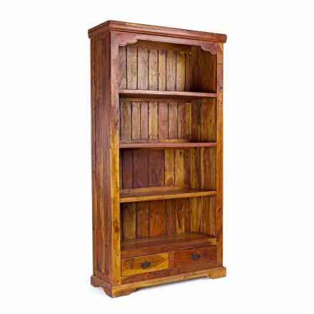 Klassisches Design Boden Bücherregal aus massivem Akazienholz Homemotion - Umami