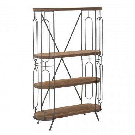 Modernes Design Boden Bücherregal aus Eisen und MDF - Veronique