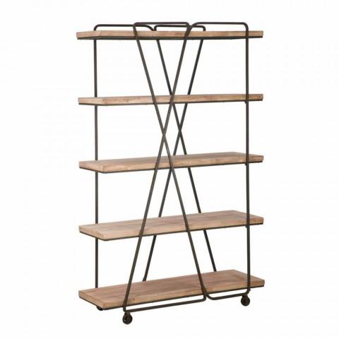 Modernes Bücherregal für Industrie- und Holzfußböden - Soline