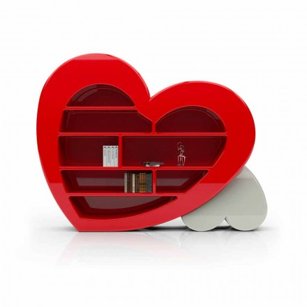 Solid Surface® Bücherregal Made in Italy Cuore