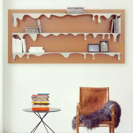Library Motiv Kolata 130x70 (3 Böden) Mabele