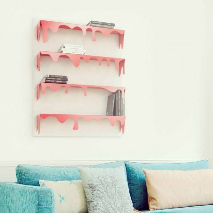 Modilierbare moderne Design Bücherregal Kolata  90x110  (4 Regale) Mabele