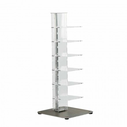 Bücherregal aus Methacrylat im modernen Design, L35xD35xH100 cm, Jesse