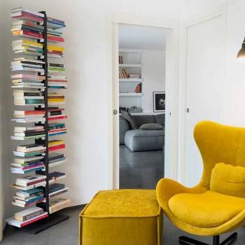 Zia Bice Bücherregal an der Wand befestigt und Regale in Italien hergestellt