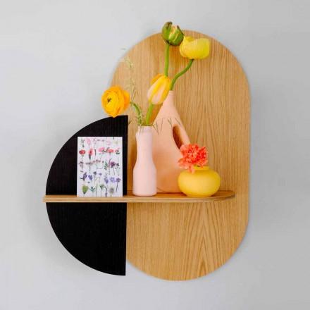 Modernes Design Wandregal mit 3 modularen Sperrholzplatten - Elena