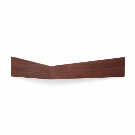 Design Wandregal aus Sperrholz und Metall mit Garderobe - Berema