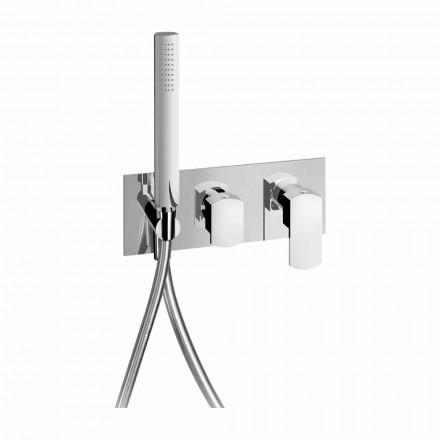 Modernes Design Eingebauter Duschmischer aus Messing Made in Italy - Sika