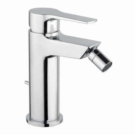 Moderner Messing Bidet Mixer mit Abfluss Made in Italy - Sindra