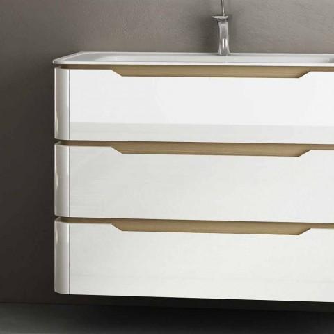 Badezimmerschrank mit 3 Schubladen modernes Arya Holz, hergestellt in Italien