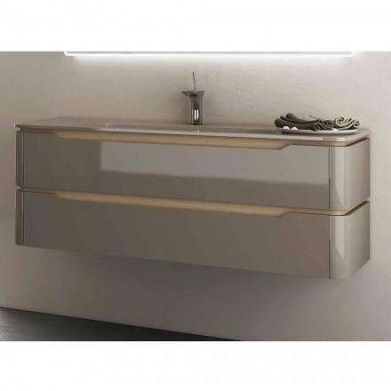 Badezimmerschrank mit integriertem Design Waschbecken Arya, hergestellt in Italien