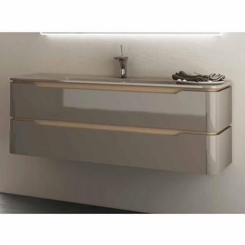 Badezimmerschrank mit integriertem design waschbecken arya for Badezimmerschrank mit waschbecken