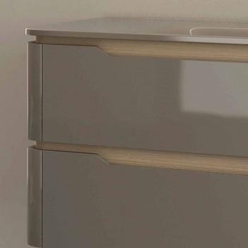 Badezimmerschrank mit integriertem Design Waschbecken Arya, in Italien hergestellt