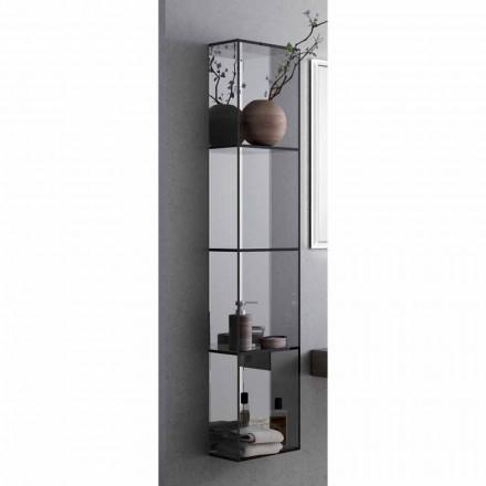 Badezimmerschrank mit 4 Fächern, L300x H1400 mm, Adelia