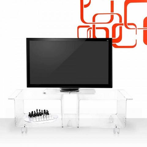TV-Schrank im modernen Design aus transparentem Plexiglas Mago Double