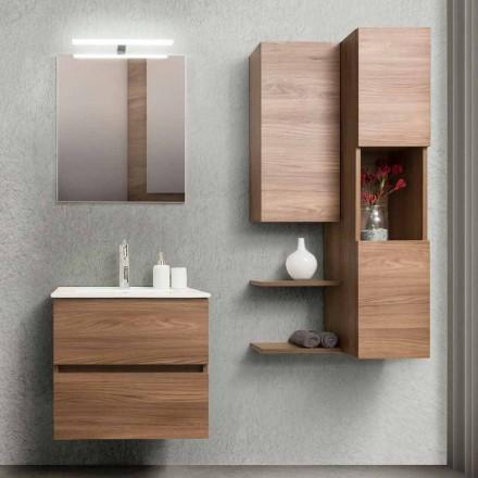 Badezimmerschrank 60 cm, Spiegel, Waschbecken und Säule - Becky