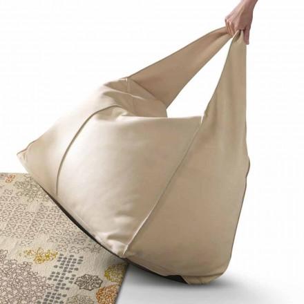 Pouf aus Leder im modernen Design My Home Bag aus Italien