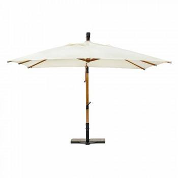 Ecrù Color Outdoor Regenschirm aus Polyester und Holz 3x4 Homemotion - Passmore