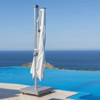Wasserabweisender Sonnenschirm mit 3x4 Granitbasis - Zeus von Talenti