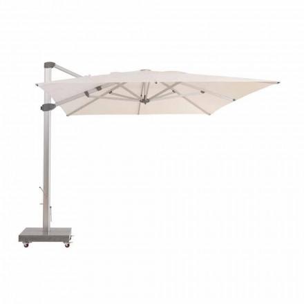 3x4 wasserabweisender Sonnenschirm mit Aluminiumstange - Zeus von Talenti