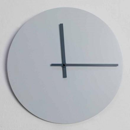 Runde Wanduhr von modernem Design Grau und Blau Made in Italy - Umbriel