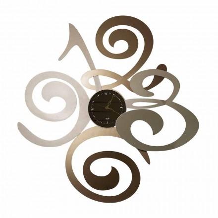 Moderne Design Wanduhr gespiegelt aus Eisen Made Italien - Fiordaliso