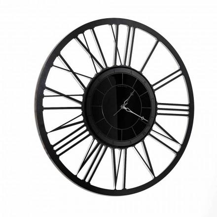 Moderne Design Wanduhr gespiegelt aus Eisen Made in Italy - Gioele