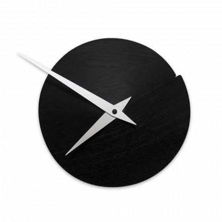 Runde Wanduhr aus Holz mit einem Durchmesser 19,5 cm Made in Italy - Cratere