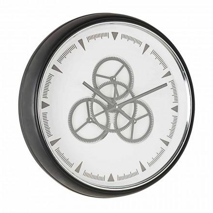 Wanduhrdurchmesser 50 cm in Stahl und Glas Homemotion - Severio