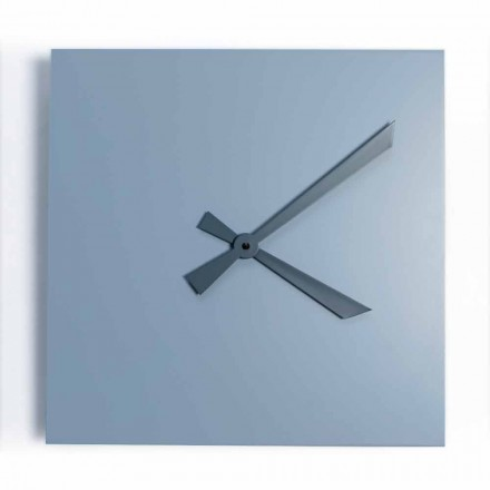Industrielle und moderne quadratische Wanduhr von italienischem Design - Titan