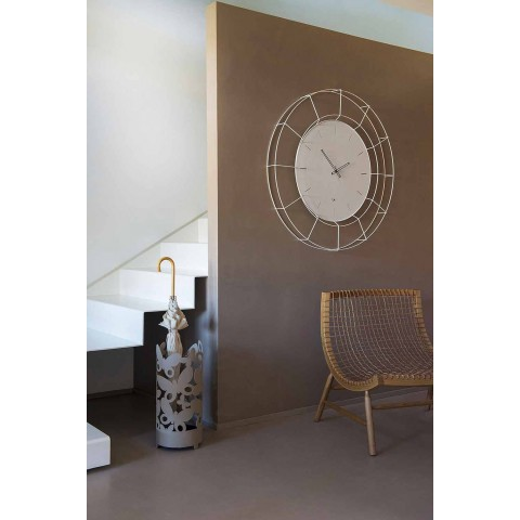 Moderne Wanduhr aus farbigem Stahl Made in Italy - Adalgiso