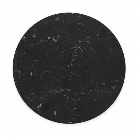 Runder Käseteller aus weißem oder schwarzem Marmor Made in Italy - Kirby