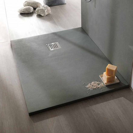 Duschwanne 120x80 cm in Resin Concrete Effect Modernes Design - Cupio