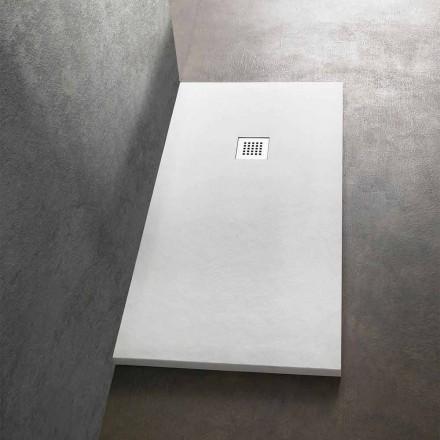 Moderne Duschwanne 160x70 in Resin Stone Effect Finish - Domio