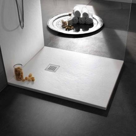 Modernes Design Duschwanne in Harz Steineffekt 100x70 - Domio