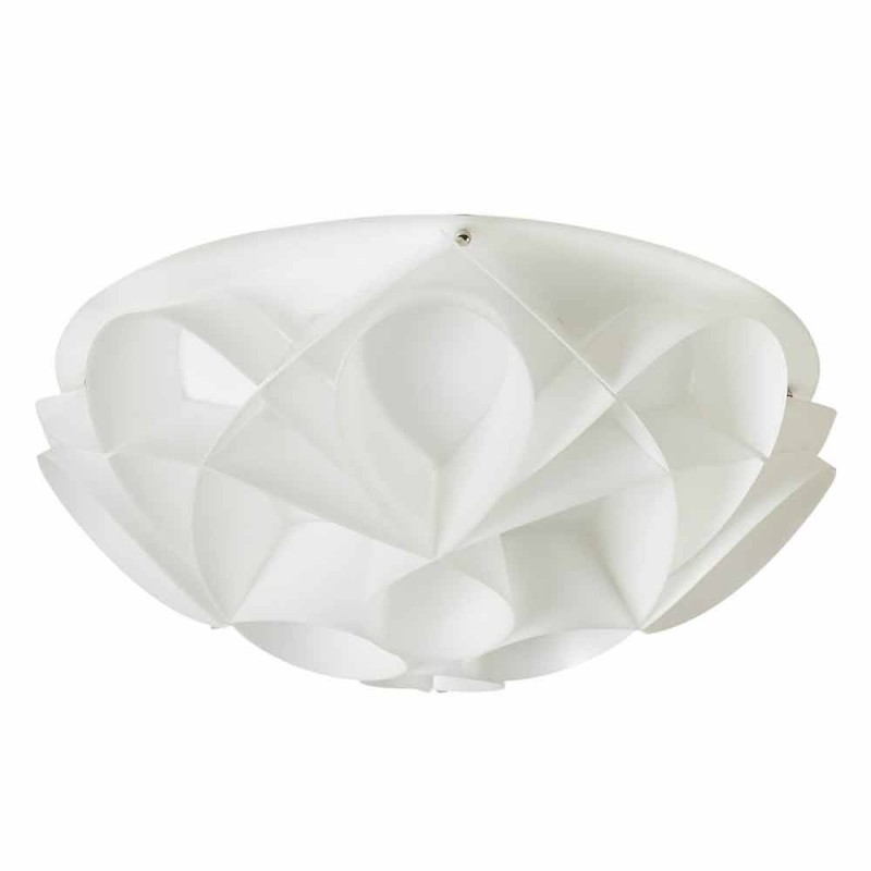 Deckenleuchte 2 leuchtet perlweiß modernes Design, Diam.43cm, Lena