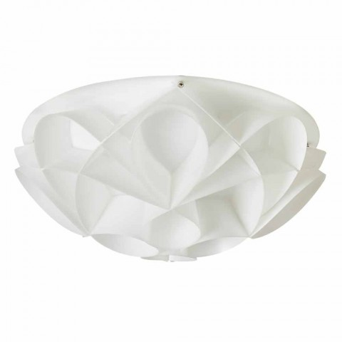 3 Lichter Deckenleuchte in Italien perlweiß, Durchmesser 51 cm, Lena gemacht