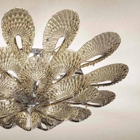 Artisan Deckenlampe aus venezianischem Rauchglas, Made in Italy - Minos