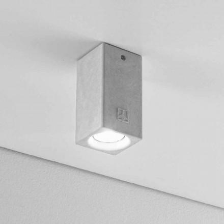 Deckenlampe eckig aus Beton oder Gips Nadir 5 Aldo Bernardi