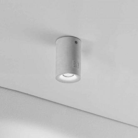 Deckenlampe rund aus Beton/Gips für den Außenbereich Nadir 9