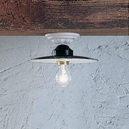Runde Deckenlampe aus Keramik im rustikalen Stil Ferroluce Potenza