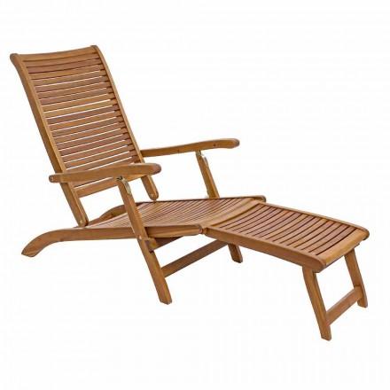 Liegende Chaiselongue im Freien aus Naturholz - Roxen