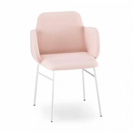 Hochwertiger farbiger Sessel aus Stoff und Metall Made in Italy - Molde