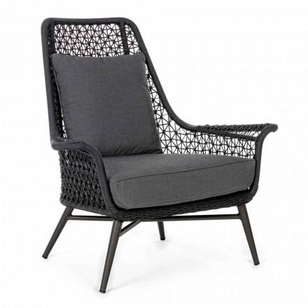 Outdoor-Sessel mit modernem Design aus Aluminium und Homemotion-Stoff - Nigerio