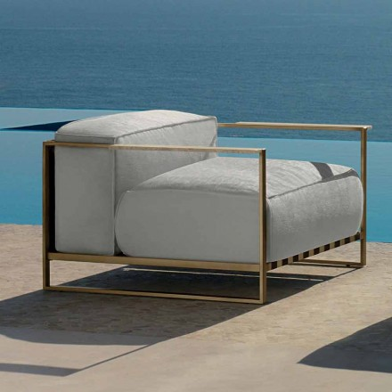 Casilda Talenti Outdoor Design Sessel aus gepolstertem Edelstahl