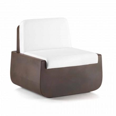 Outdoor-Sessel aus Polyethylen mit Stoffkissen Made in Italy - Belida