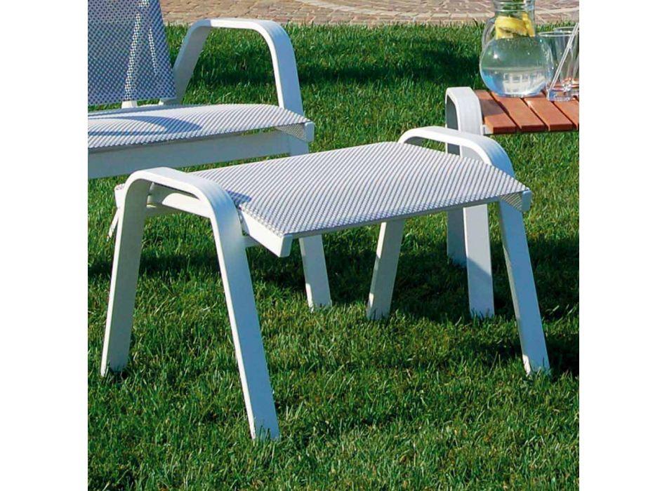 Aluminium Gartensessel mit Fußstütze Made in Italy - Camillo